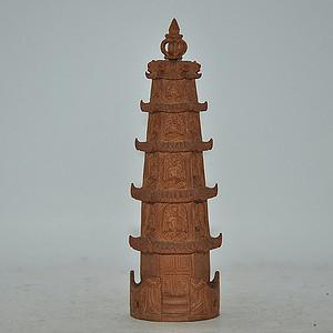 50年以上印度檀香木佛塔