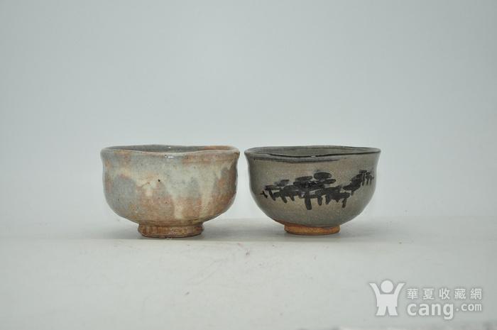 日本茶道瓷碗两个图1