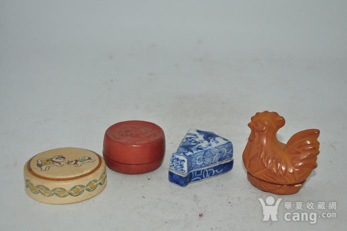 日本瓷塑小香盒四个图2