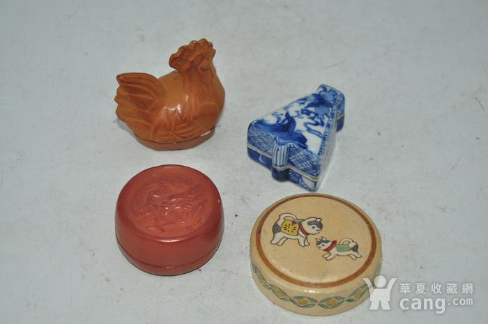 日本瓷塑小香盒四个图3
