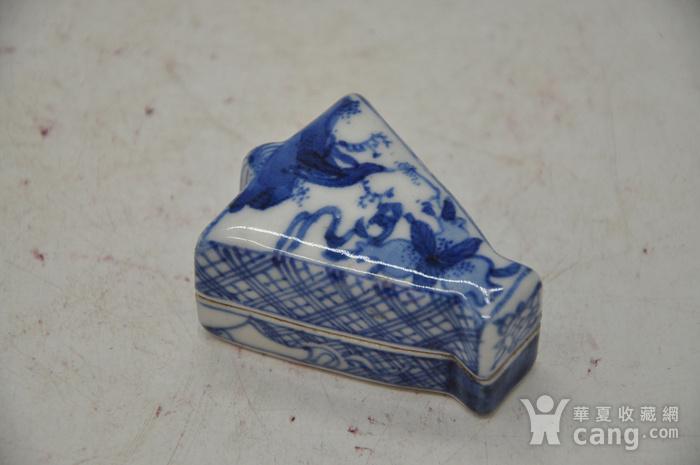 日本瓷塑小香盒四个图11