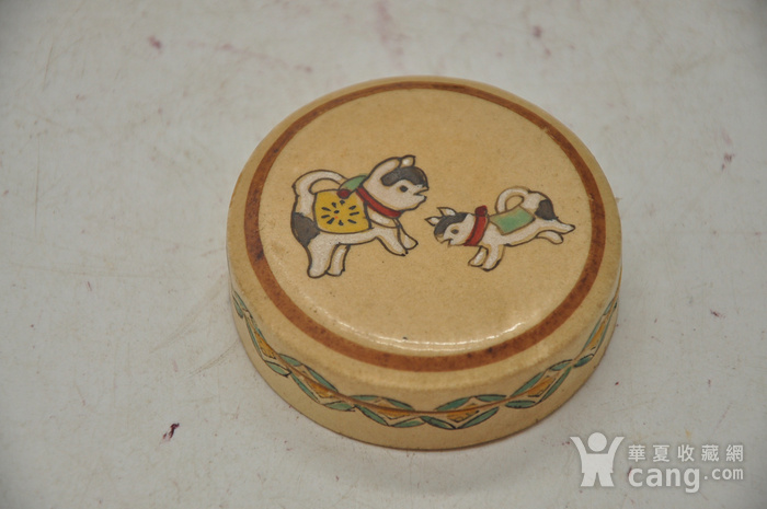 日本瓷塑小香盒四个图7