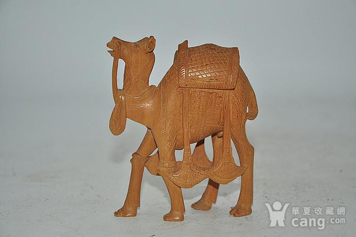 几十年印度檀香木雕刻骆驼图1