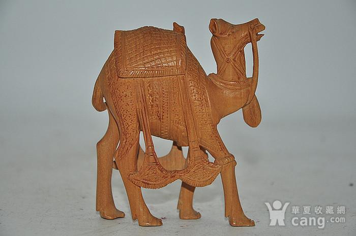 几十年印度檀香木雕刻骆驼图4