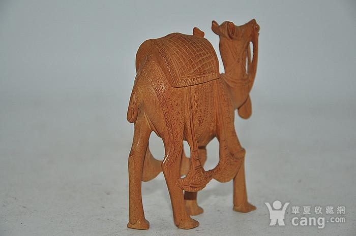 几十年印度檀香木雕刻骆驼图5