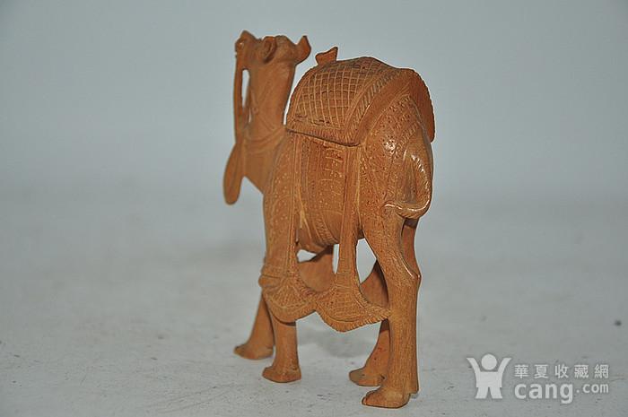 几十年印度檀香木雕刻骆驼图2