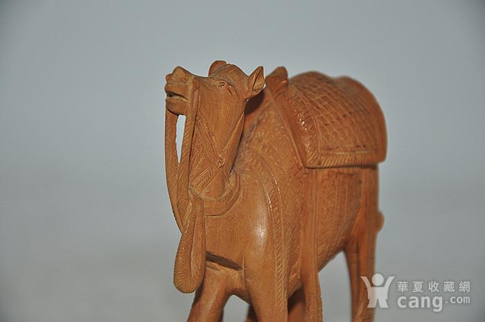 几十年印度檀香木雕刻骆驼图3