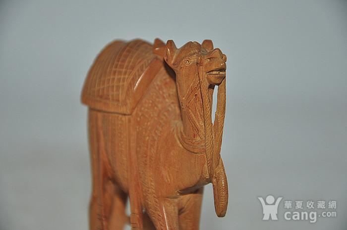 几十年印度檀香木雕刻骆驼图7