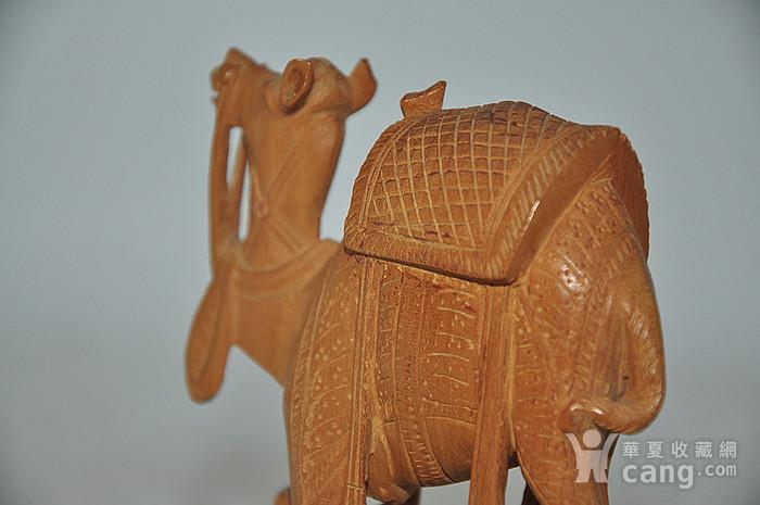 几十年印度檀香木雕刻骆驼图6