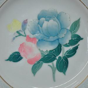 80年代醴陵群力釉下五彩小瓷碟