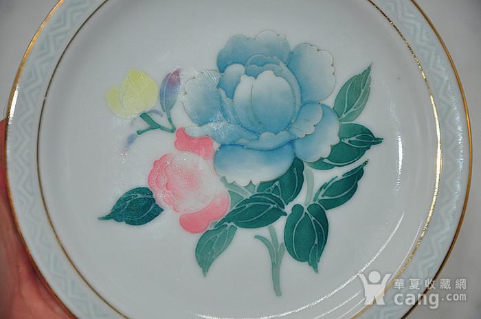 80年代醴陵群力釉下五彩小瓷碟图1