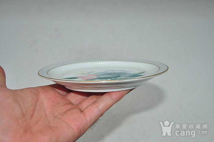 80年代醴陵群力釉下五彩小瓷碟图7