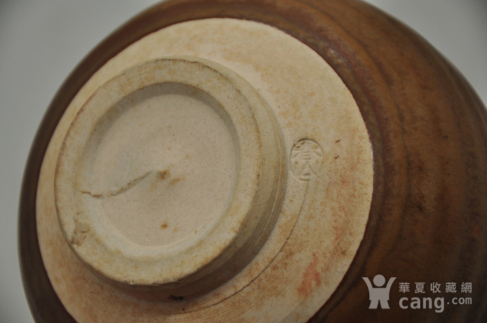日本春山款酱釉茶碗图8