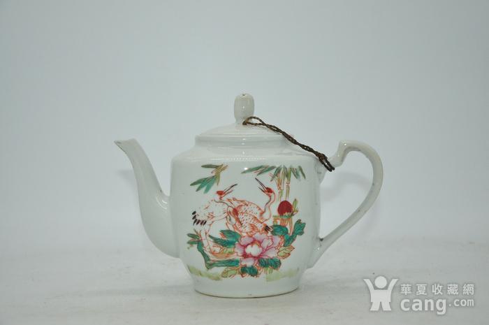 粉彩老茶壶图1