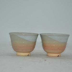 日本茶道瓷茶碗一对