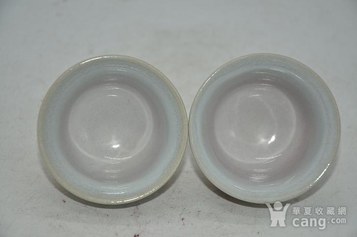 日本茶道瓷茶碗一对图4