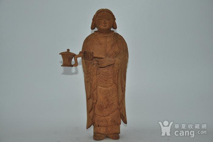 木雕侍女图1
