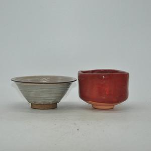 日本茶道专用瓷碗两个