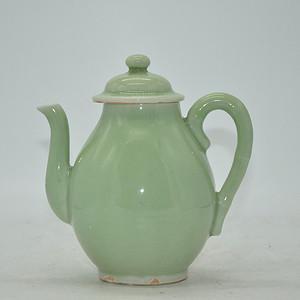 清末民国龙泉釉茶壶