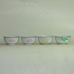 粉彩瓷茶碗五件套