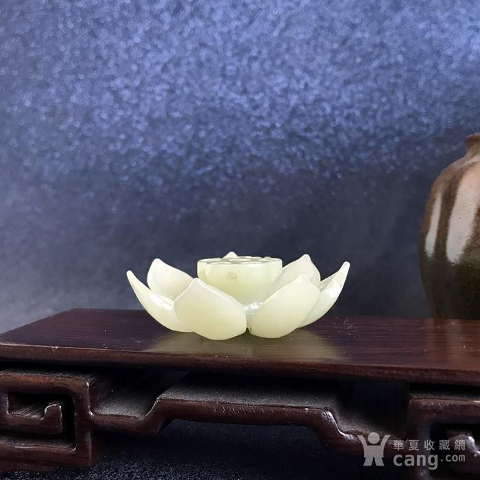 民国 创汇期老和田玉莲花香插图1