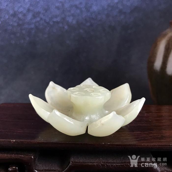 民国 创汇期老和田玉莲花香插图2