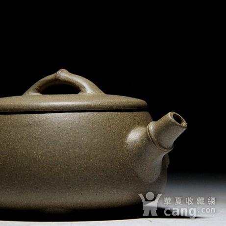 吴国良老段泥竹节大口石瓢壶图2