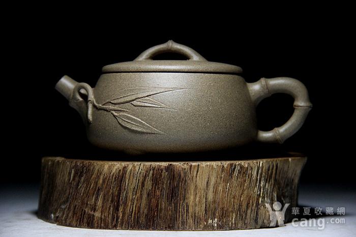 吴国良老段泥竹节大口石瓢壶图4
