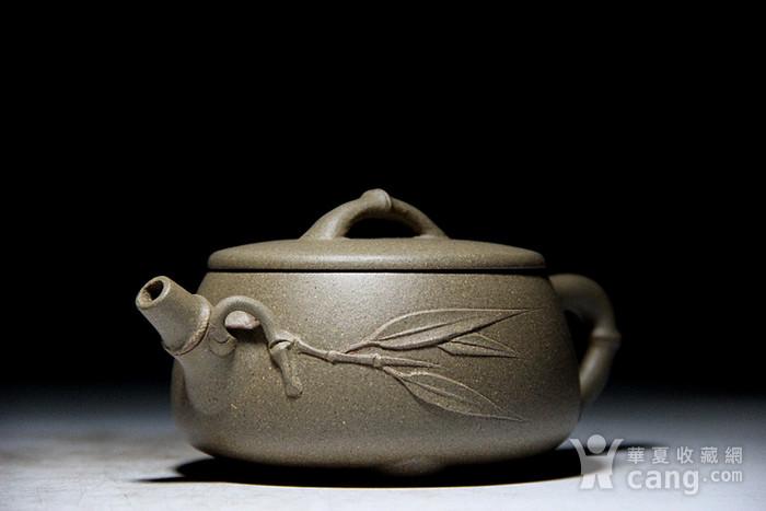吴国良老段泥竹节大口石瓢壶图7