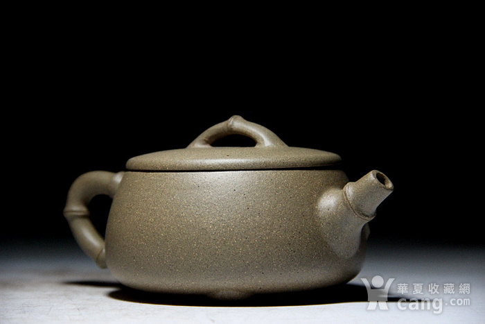 吴国良老段泥竹节大口石瓢壶图9