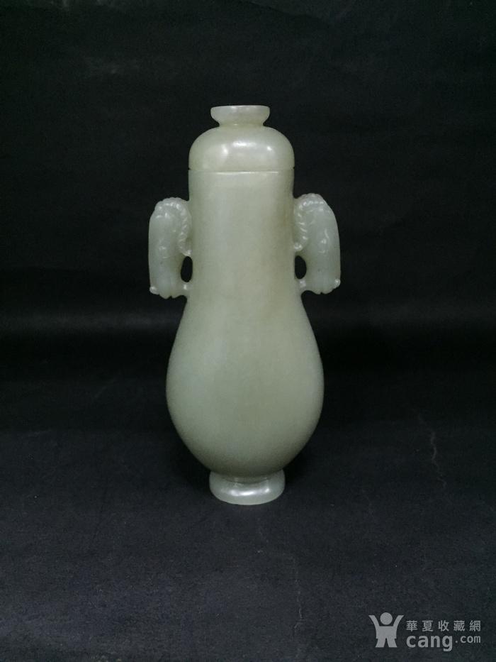 和田玉马头小瓶子图2