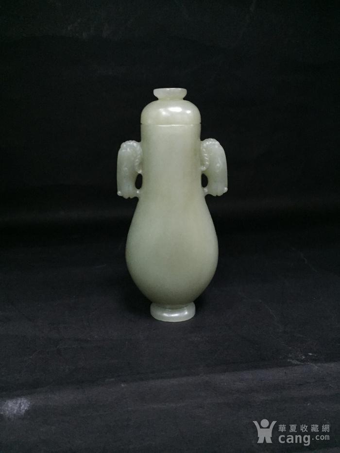 和田玉马头小瓶子图10