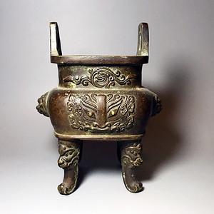 精品压轴重器   收藏级清代兽头铜香炉