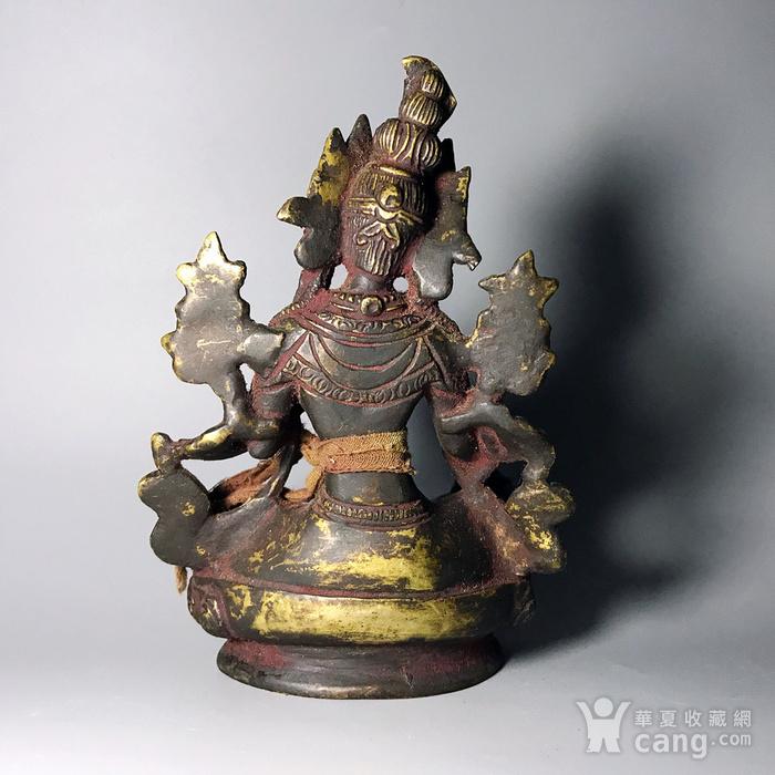 藏传佛像收藏 清代绿度母像一尊图6
