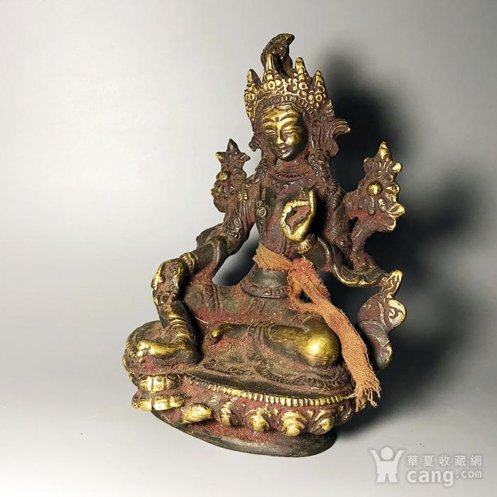 藏传佛像收藏 清代绿度母像一尊图8