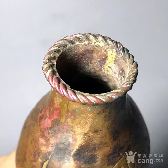 精品清代铜质刻花葫芦瓶一只图11