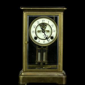 22民国玻璃铜钟