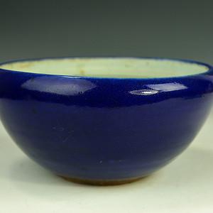 欧美回流 漂亮清同治霁蓝釉大香炉