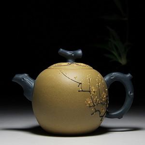 民间陶艺家段泥双色梅花