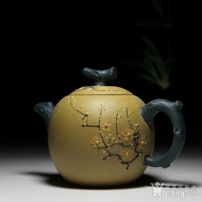 民间陶艺家段泥双色梅花图4