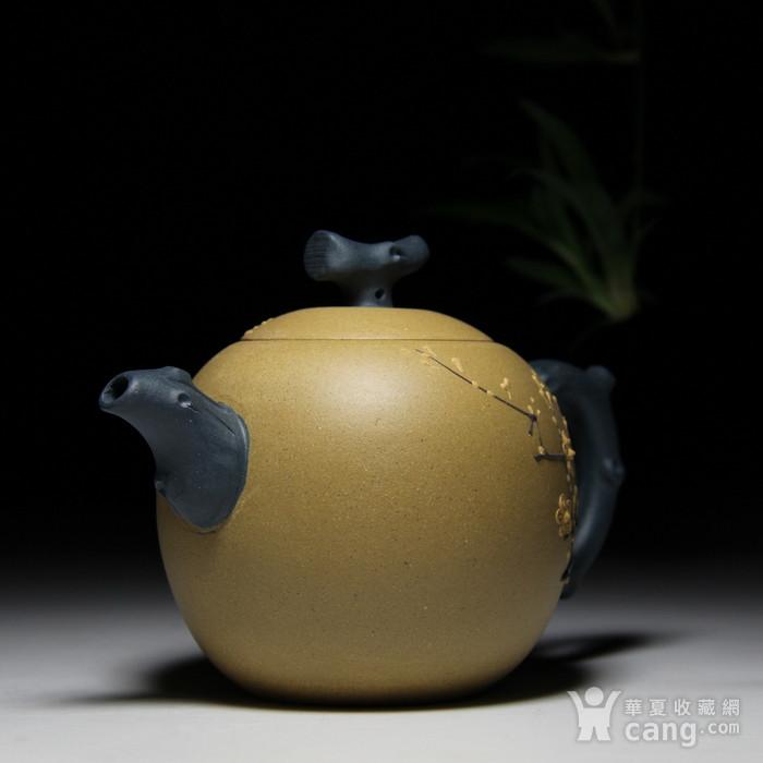 民间陶艺家段泥双色梅花图7