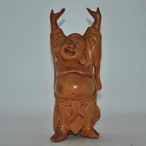 黄拓植木雕弥勒佛