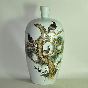 丁成明作品粉彩瓷瓶