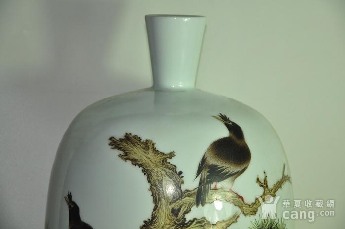 丁成明作品粉彩瓷瓶图3