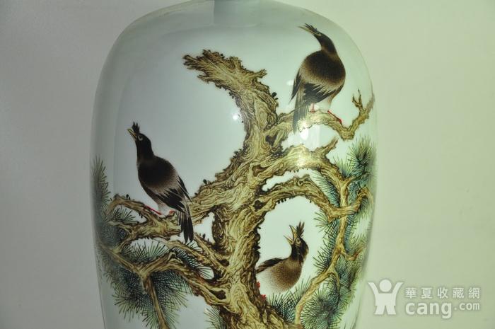 丁成明作品粉彩瓷瓶图4