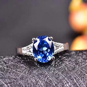 炫彩蓝托帕石戒指