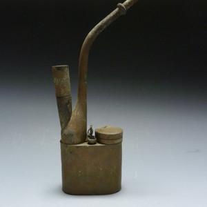 晚清 白铜水烟筒