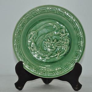 几十年龙泉釉瓷盘