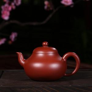 戴鹏飞朱泥大红袍梨形壶
