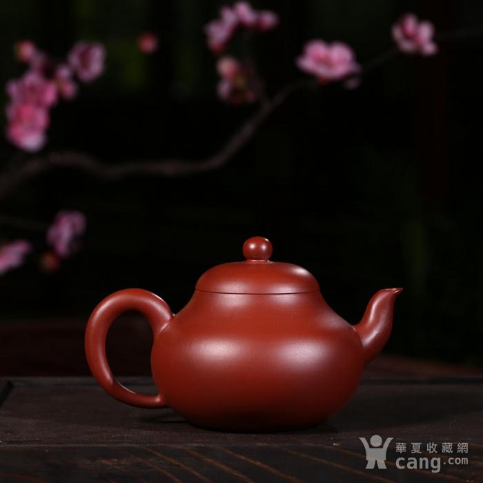戴鹏飞朱泥大红袍梨形壶图2